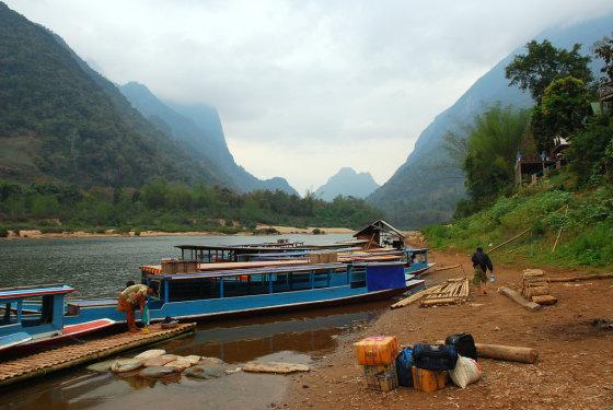 Tomo Baranausko nuotr./Muang Ngeu Nua kaimą Šiaurės Laose supa kalnai ir upė