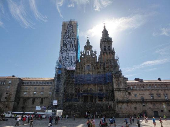 J. Aixner nuotr./Pagaliau mes čia! Šiuo metu renovuojama Santjago de Kompostelos katedra