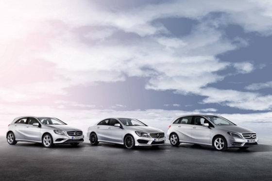 """Mercedes-Benz"" nuotr./A klasės, CLA bei B klasės ""Mercedes-Benz"" automobiliai"