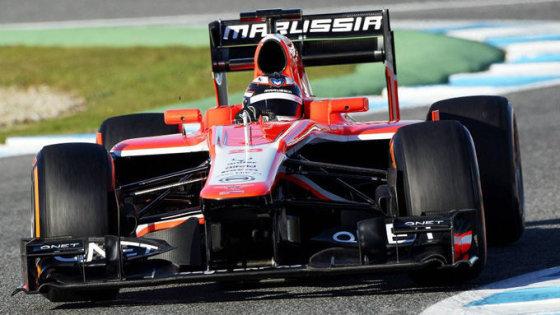 """Marussia"" komandos nuotr./""Marussia MR02"" bolidas"