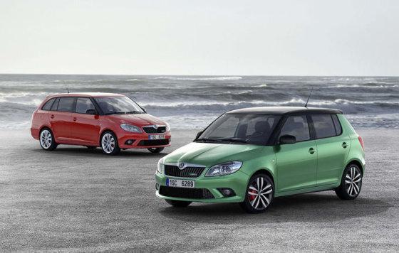 """""""Škoda"""" nuotr./""""Škoda Fabia vRS"""" modeliai"""