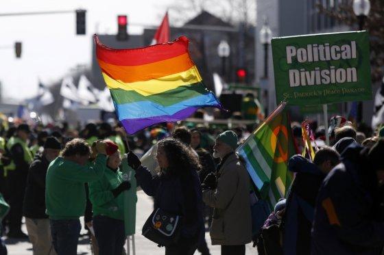 """""""Scanpix"""" nuotr./LGBT aktyvistai Bostono Šv.Patriko dienos šventėje"""
