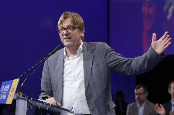 """""""Scanpix"""" nuotr./Liberalų ir demokratų aljanso """"Už Europą"""" kandidatas, buvęs Belgijos premjeras Guy Verhofstadtas"""