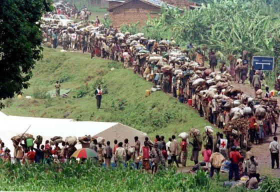 """""""Scanpix"""" nuotr./Ruandos hutų pabėgėliai"""