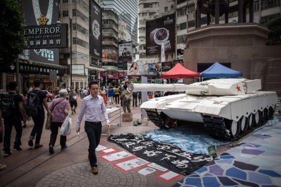 """AFP/""""Scanpix"""" nuotr./Tiananmenio aikštės žudynių 25-metis bus minimas Honkonge"""
