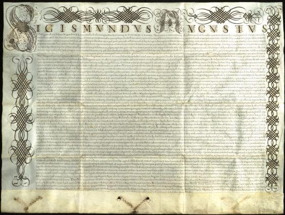 Žygimanto Augusto raštas, skirtas Jonui Chodkevičiui