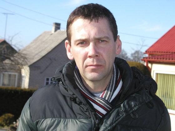 Vilmos Danauskienės nuotr./Socialinis darbuotojas Egidijus Aleksonis
