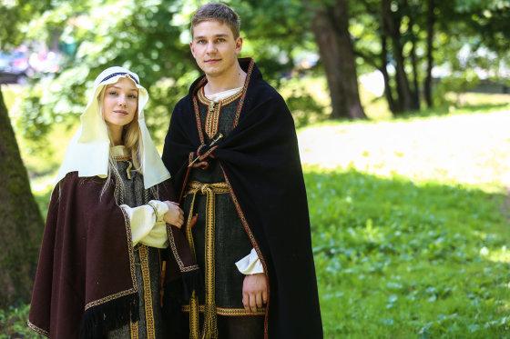 Luko Balandžio/Žmonės.lt nuotr./I-IV amžius, žiemgalių genties kostiumas
