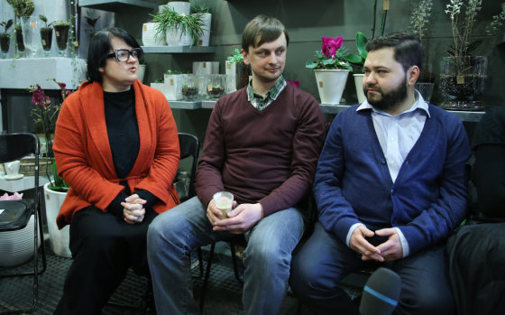 Luko Balandžio/Žmonės.lt nuotr./Dalia Ibelhauptaitė, Vytautas Vepštas ir Rafailas Karpis