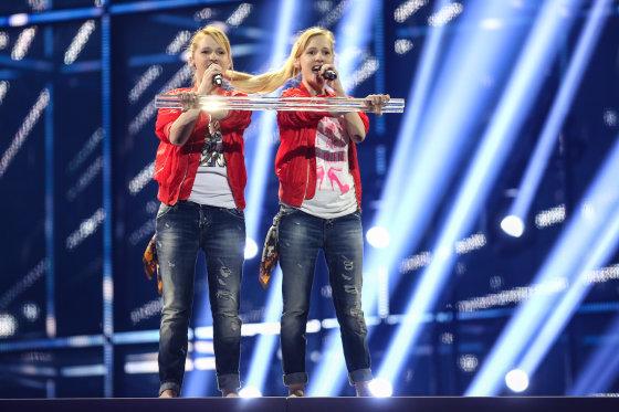 """Luko Balandžio/Žmonės.lt nuotr./Rusijos atstovės """"Tolmachevy Sisters"""""""
