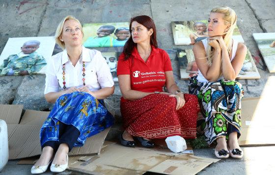 Luko Balandžio/Žmonės.lt nuotr./Rūtos Mikelkevičiūtės ir Giedrės Talmantienės filmo apie Zambiją pristatymas
