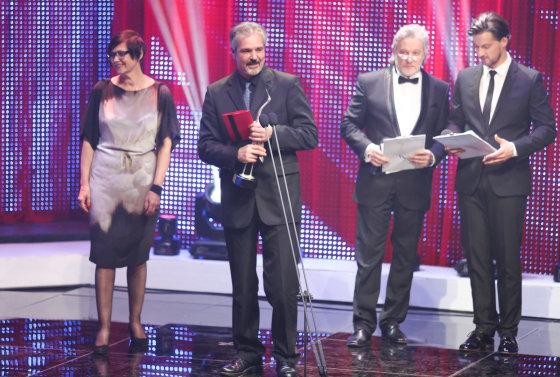 """Luko Balandžio/Žmonės.lt nuotr./ """"Sidabrinės gervės 2014"""" ceremonijos akimirka"""