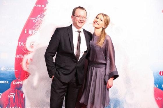 Sandra Daukšaitė-Petrulėnė su vyru Aurimu