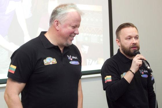 Viganto Ovadnevo/Žmonės.lt nuotr./Vytaras Radzevičius ir Martynas Starkus