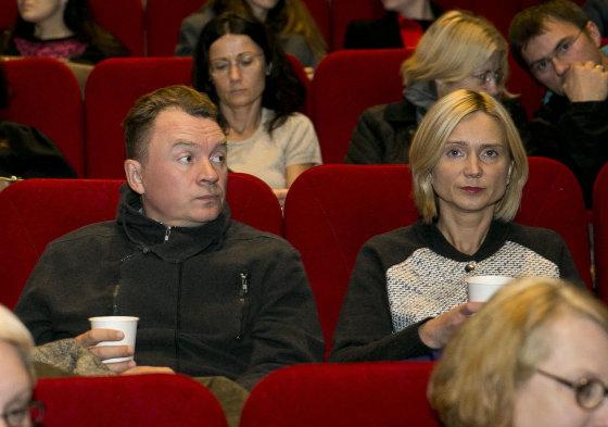 Viganto Ovadnevo/Žmonės.lt nuotr./Ignas Jonynas su žmona Rasa