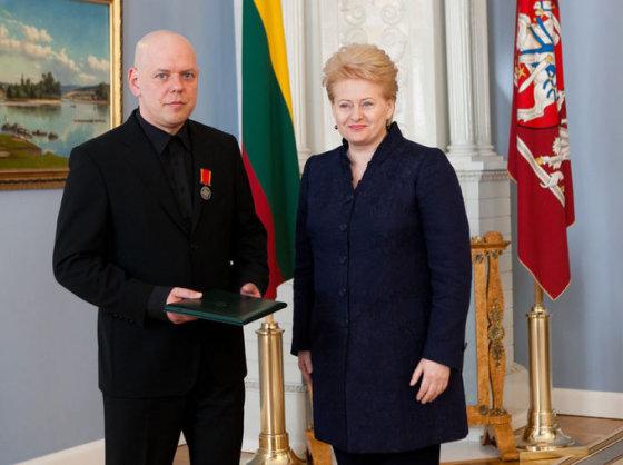 Prezidentė Dalia Grybauskaitė ir Gabrielius Liaudanskas-Svaras