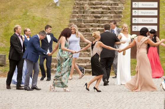 Antano ir Aistės Guogų vestuvių akimirka