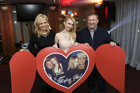 Simona Milinytė su tėvais Marija ir Albertu Miliniais