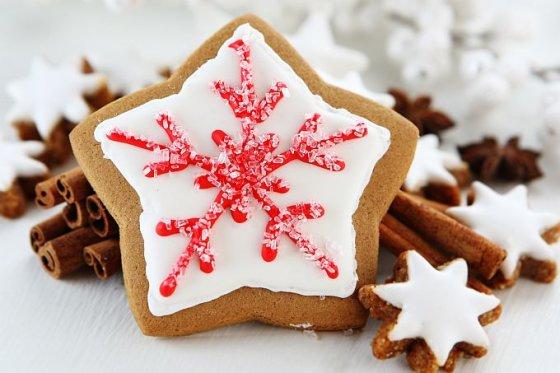 Fotolia nuotr./Kalėdiniai sausainiai
