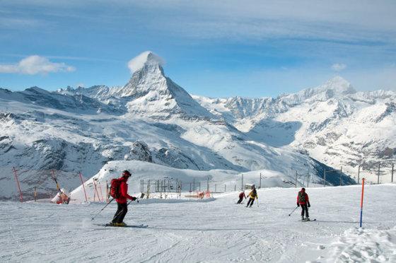 Shutterstock nuotr. / Cermos slidinėjimo kurortas Šveicarijoje