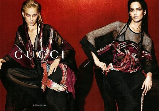 Gucci.com nuotr. Mados namų Gucci 2014 m. pavasario/vasaros reklaminiai kadrai.