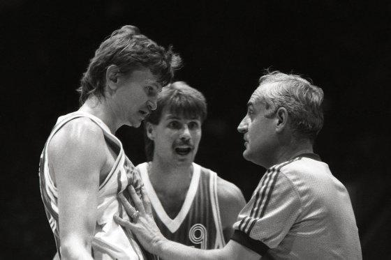 Alfredo Pliadžio nuotr./1987 10 06 Sergejus Jovaiša ir Gintaras Krapikas