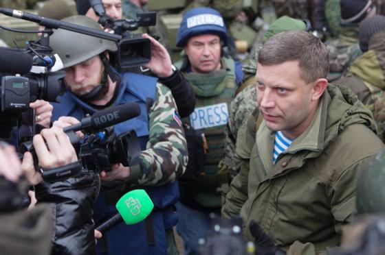 """Scanpix""/ITAR-TASS nuotr./Donecko teroristų vadeiva Aleksandras Zacharčenka"