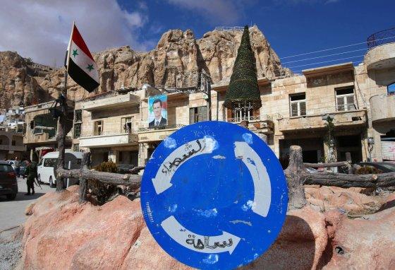 """AFP/""""Scanpix"""" nuotr./Kalėdos Sirijoje"""