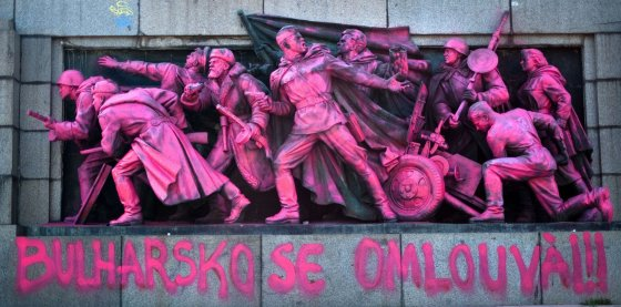 """AFP/""""Scanpix"""" nuotr./Sovietinis paminklas Bulgarijoje"""