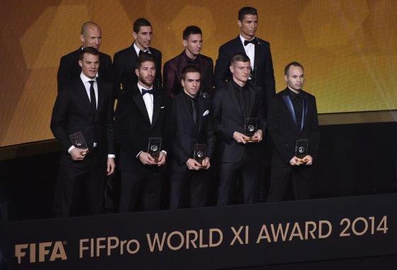 """AFP/""""Scanpix"""" nuotr./Geriausi 2014 met7 futbolininkai"""