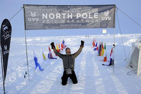 fightinnerweak.com nuotr./Šiaurės ašigalio maratonas (North Pole Marathon)