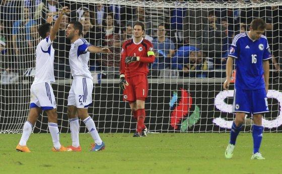 """""""Scanpix""""/AP nuotr./Izraelio futbolininkų džiaugsmas"""