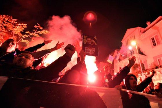 """AFP/""""Scanpix"""" nuotr./Serbų protesto akcija Belgrade"""