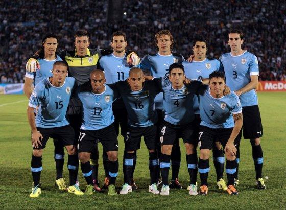 """AFP/""""Scanpix"""" nuotr./Urugvajaus rinktinė"""
