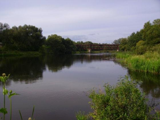 Anykščių siaurojo geležinkelio (siauruko) tiltas per Šventosios upę, Anykščiai, Šventosios upė. Įkrauk.lt skaitytojos Vilmos Juzėnaitės nuotr.