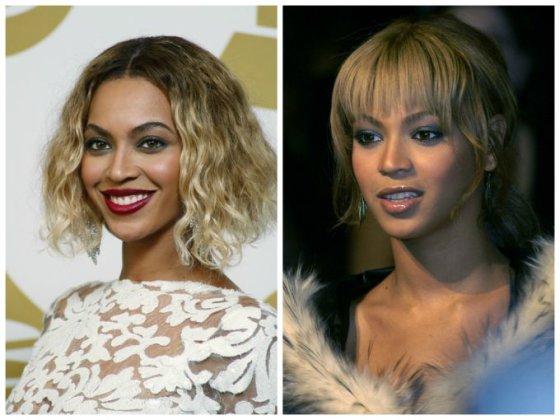 """Scanpix"" nuotr./Beyonce (kairėje 2014 m., dešinėje - 2003 m.)"