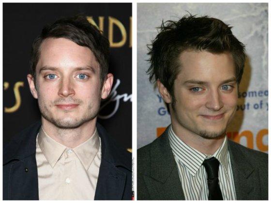 """""""Scanpix"""" nuotr./Elijah Woodas (kairėje 2013 m., dešinėje - 2004 m.)"""