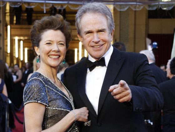 """Reuters""/""Scanpix"" nuotr./Warrenas Beatty su žmona Anette Bening"