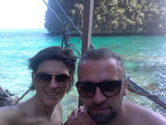 Asmeninio albumo nuotr./Julijos Maslinskajos-Ulvydienės atostogų Tailande akimirka