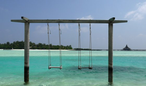 Asmeninio albumo nuotr./Viktorijos Sutkutės kelionės Maldyvuose akimirka