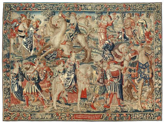 Gobelenas GODUMO TRIUMFAS (serija KELIAS I SLOVE), Nyderlandai, Briuselis, apie 1520 m