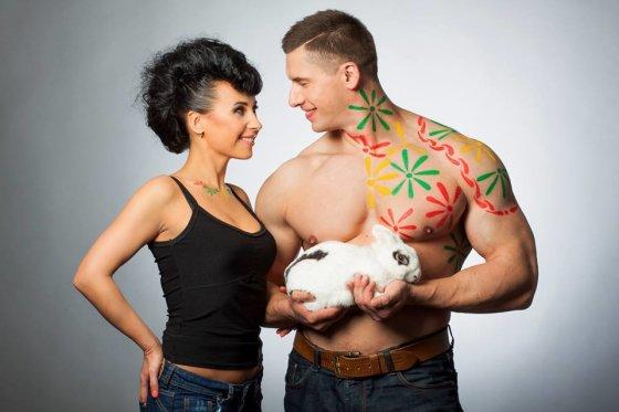 Ilmis Ilmito nuotr./Deividas Dubinas su žmona Edita