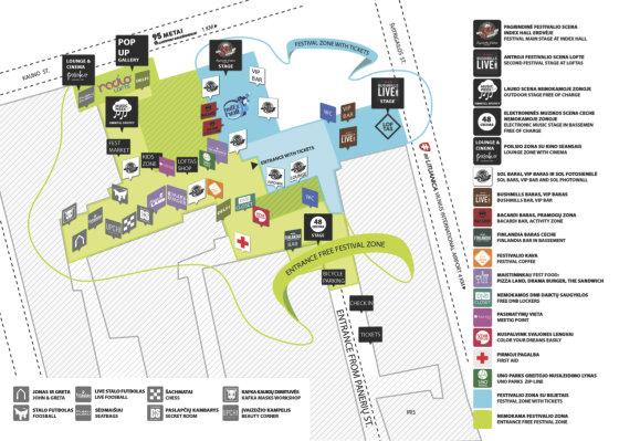 """Loftas Fest"" nuotr./Festivalio žemėlapis"
