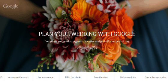"Google nuotr./""Plan Your Wedding With Google"" padeda planuoti vestuves"