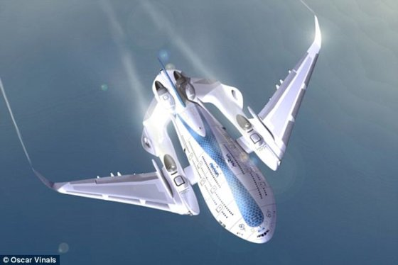 """Oskaro Vinalso nuotr./Ateities lėktuvas """"Sky Whale"""""""