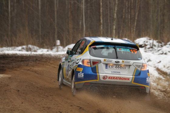 """Tomo Markelevičiaus nuotr./Bandomasis """"Rally Liepaja 2015"""" greičio ruožas"""