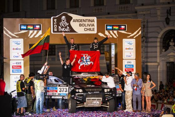 Gedmanto Kropio nuotr./Dakaro ralio finišo podiumas