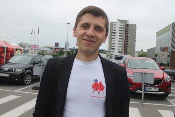 Tomo Markelevičiaus nuotr./Donorų organizatorius Donatas Šniutė