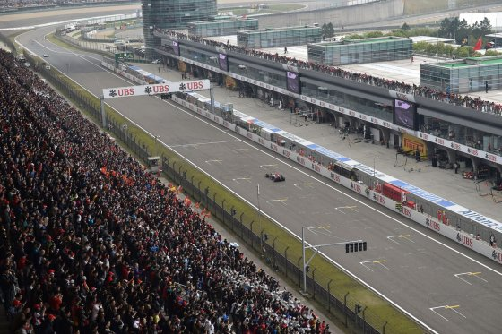 """AFP/""""Scanpix"""" nuotr./F-1 lenktynės Kinijoje"""