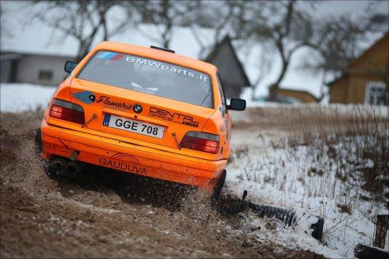 """Organizatorių nuotr./Karolis Raišys """"Halls Winter Rally 2015"""" varžybose"""